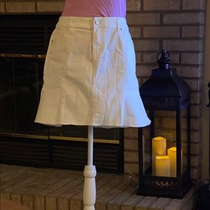 WHBM White Denim Skirt Size 10